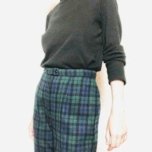 VTG Blue Green Pendleton Plaid Holiday Pants Slack